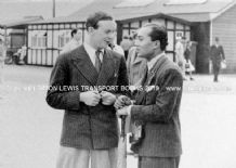 B Bira & (maybe Whitney Straight?) . Photo in paddock at Brooklands